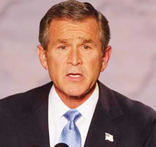 George Bush calls for a halt to emissions growth by 2025