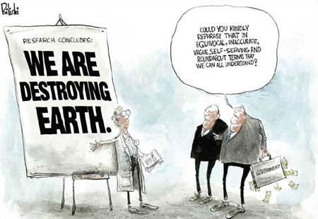 Editorial cartoons can be funny. Political interference in science is ...