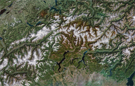 The Italian Swiss Border, Changing with the Climate