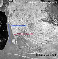 New rifts detected on ice bridge