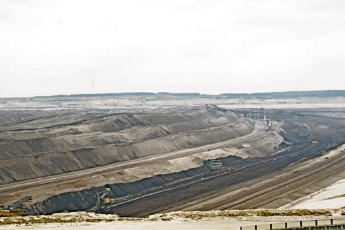 The Welzow Sud open pit mine in Brandenburg