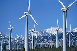 """Are wind farms beautiful or ugly? It depends on who you ask: Those in favor of wind energy extol the visual virtues of the turbines' graceful sculptural lines and view them as symbolic of an exciting, modern age of clean, renewable energy. Detractors begrudge them for destroying their pastoral views like """"machines intruding in a garden""""."""