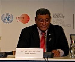 Tuvalu Prime Minister Apisai Ielemia